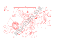 ALTERNADOR para Ducati Monster 1100 EVO 2011